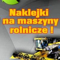 Naklejki siewnik ciągnik traktor kombajn agregat pług - zdjęcie 1