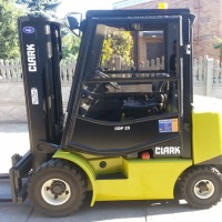 Wózek widłowy CLARK CDP25 2002r. 2.5T diesel automat przesuw kabina UDT - zdjęcie 1