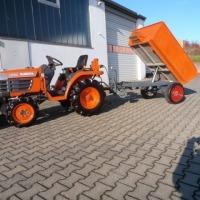 Traktorek Kubota B14 z przyczepą + glebogryzarką - zdjęcie 1