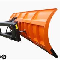 PŁUG DO ŚNIEGU ODŚNIEŻANIA 260cm Euroramka kostka (na kostce) z hydrauliką skrętu - zdjęcie 1
