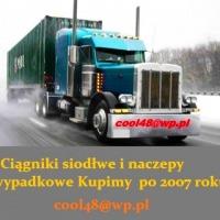 Ciągniki siodłowe po kolizji i na czesci po 2007 roku Kupimy - zdjęcie 1