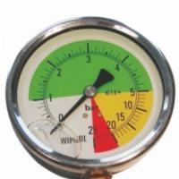 Manometr glicerynowy 0-5/25 bar tarcza 63mm, manometr glicerynowy logarytmiczny, manometr do opryskiwacza - zdjęcie 1