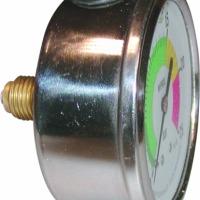 Manometr glicerynowy 0-5/25 bar tarcza 100mm gewint dolny, manometr glicerynowy logarytmiczny, manometr do opryskiwacza - zdjęcie 1