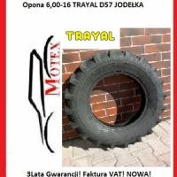 Opona 6,00-16 TRAYAL D57 Jodełka 8PR. Nowa Faktura VAT! - zdjęcie 1