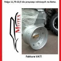 Felgi Felga Bezdętkowe 11,75-22,5 do przyczep rolniczych HL, D47 itp - zdjęcie 1
