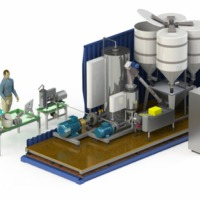 Mini-plant for producing condensed milk from dry components - zdjęcie 1